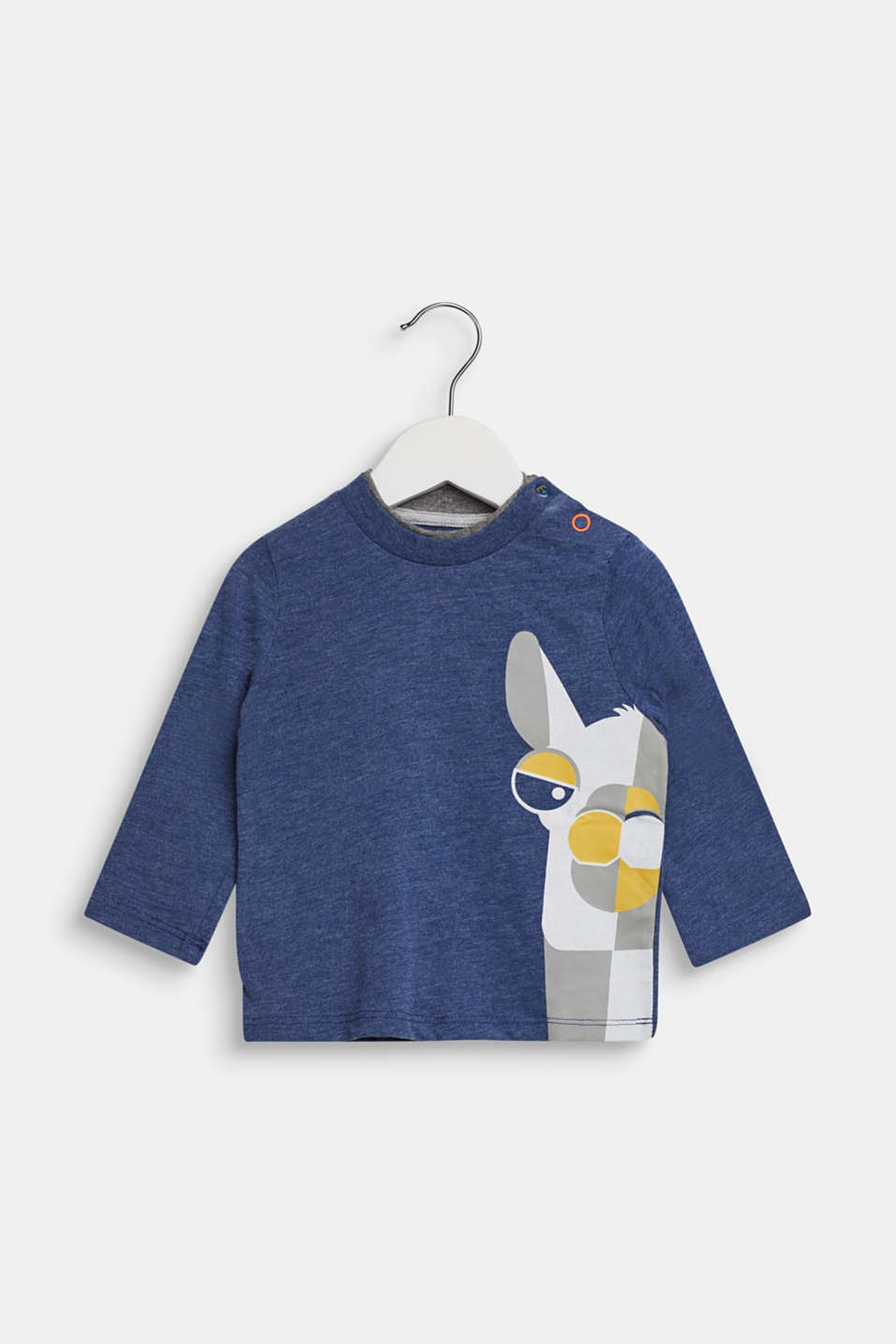 Long sleeve top with a llama print, LCINDIGO, detail image number 0