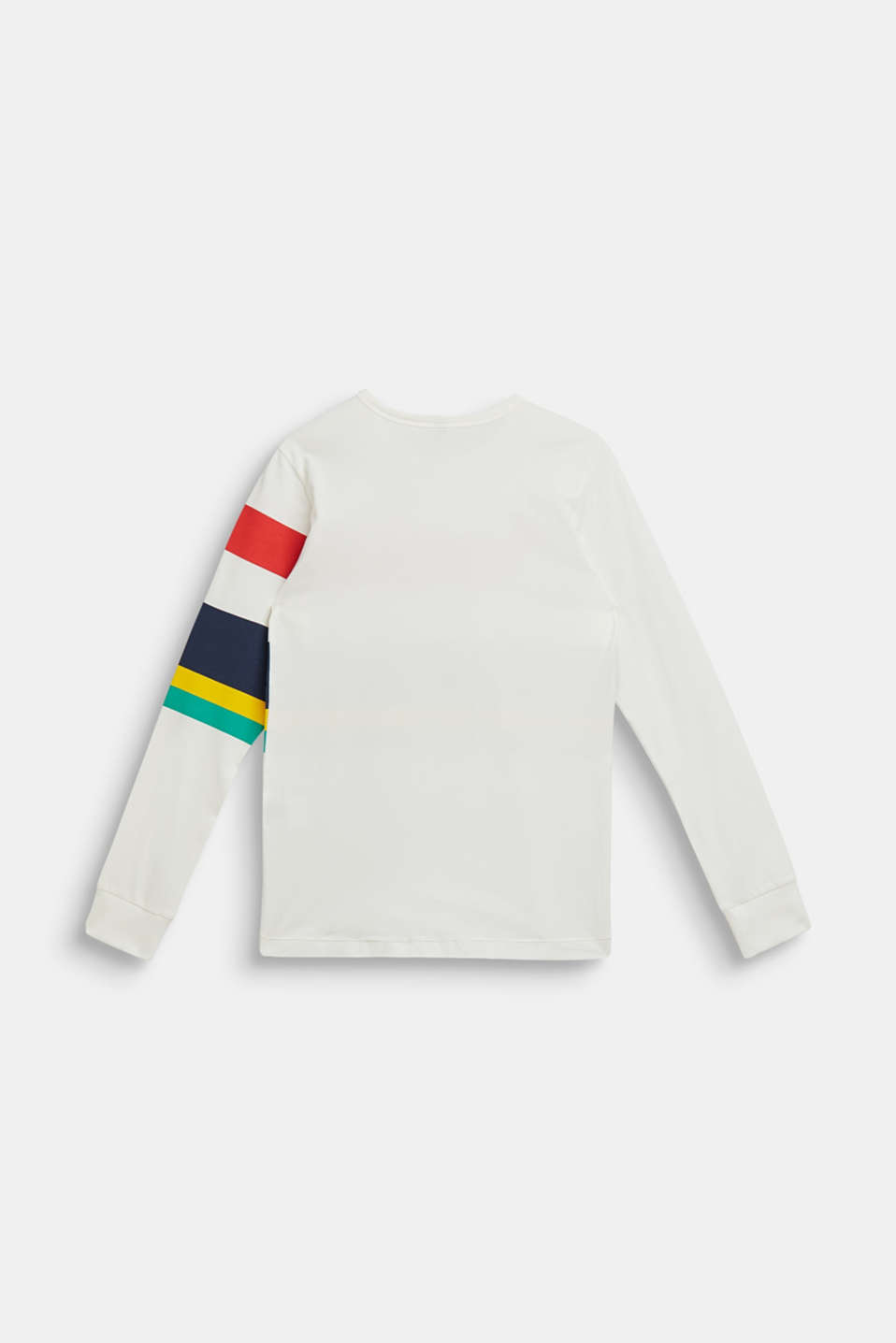 Striped long sleeve top, 100% cotton, LCOFF WHITE, detail image number 1