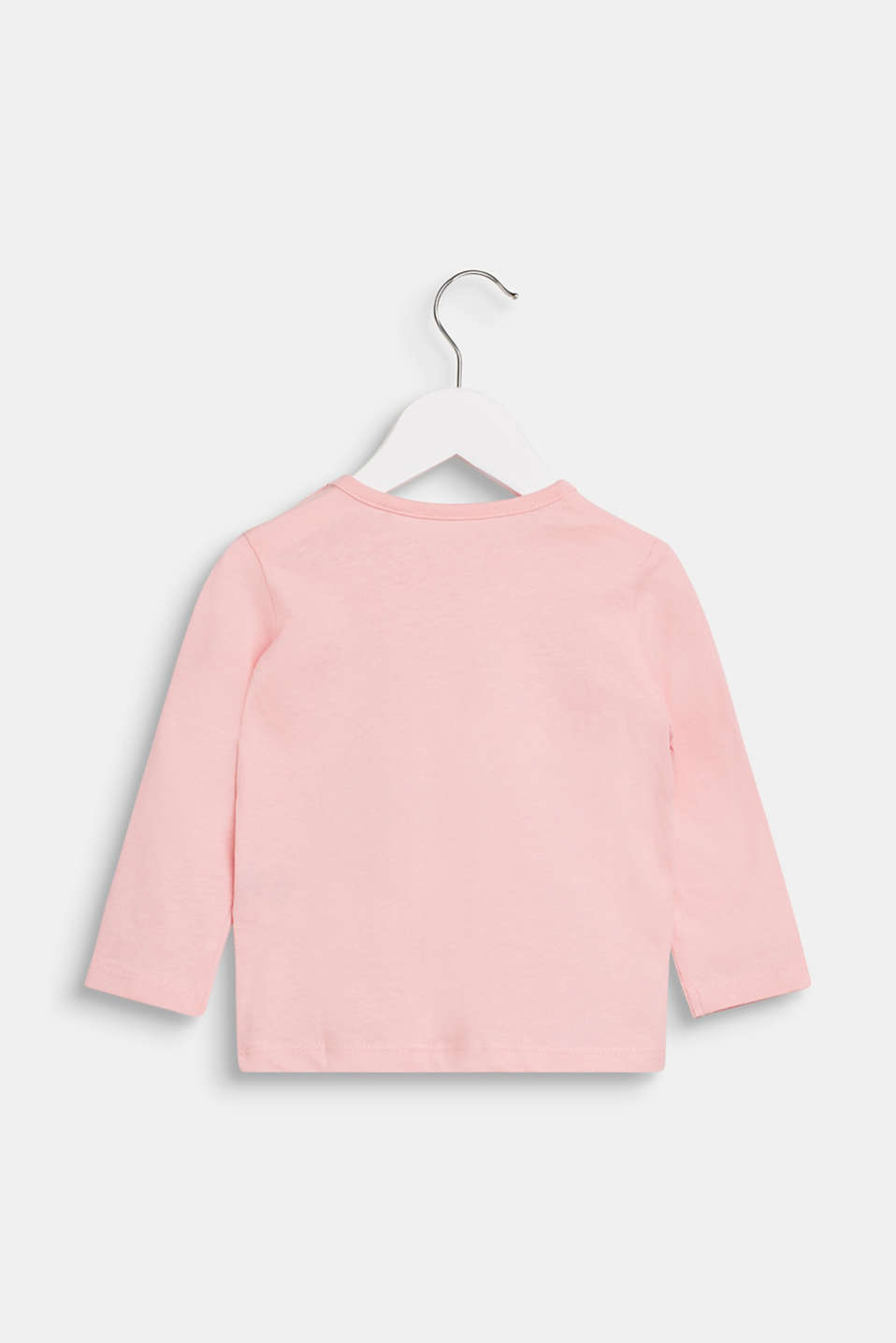 Long sleeve top with a penguin print, 100% cotton, LCLIGHT PINK, detail image number 1