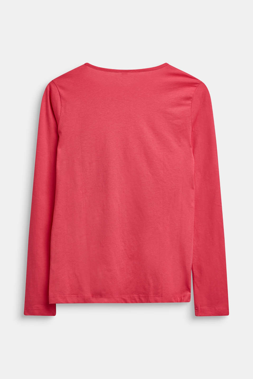 Long sleeve top made of 100% cotton, LCDARK PINK, detail image number 1