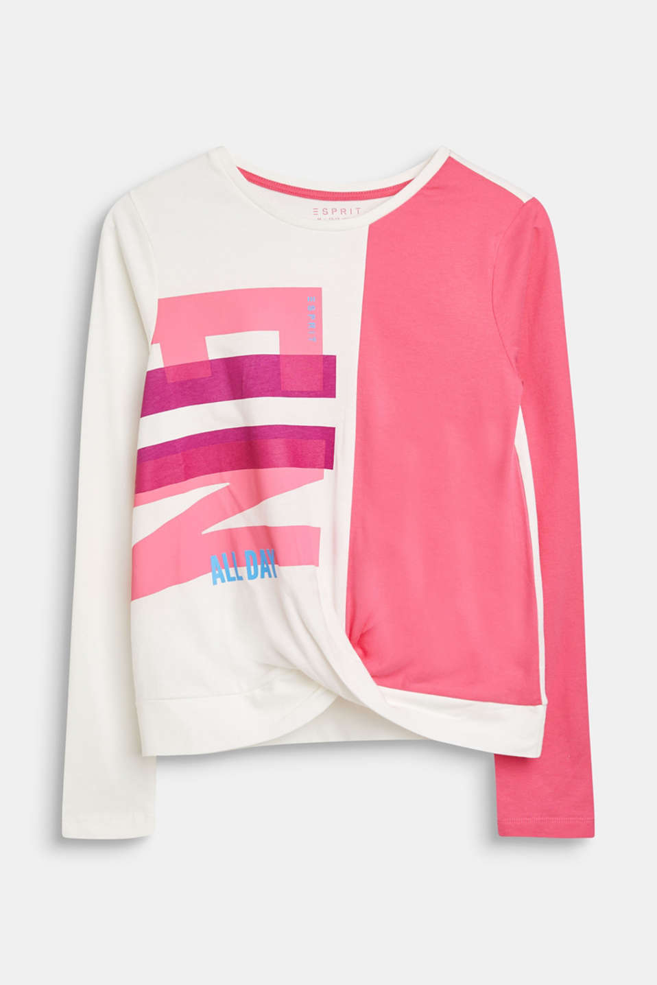 Esprit : Sweat shirt au look color block, 100 % coton à