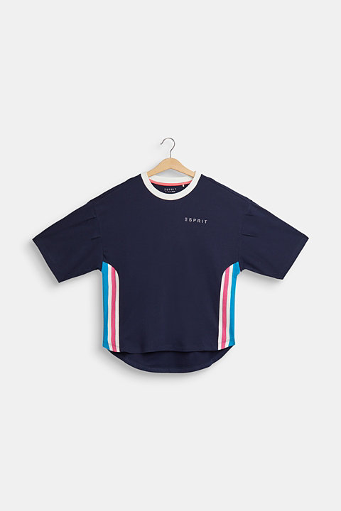T-shirt with striped details