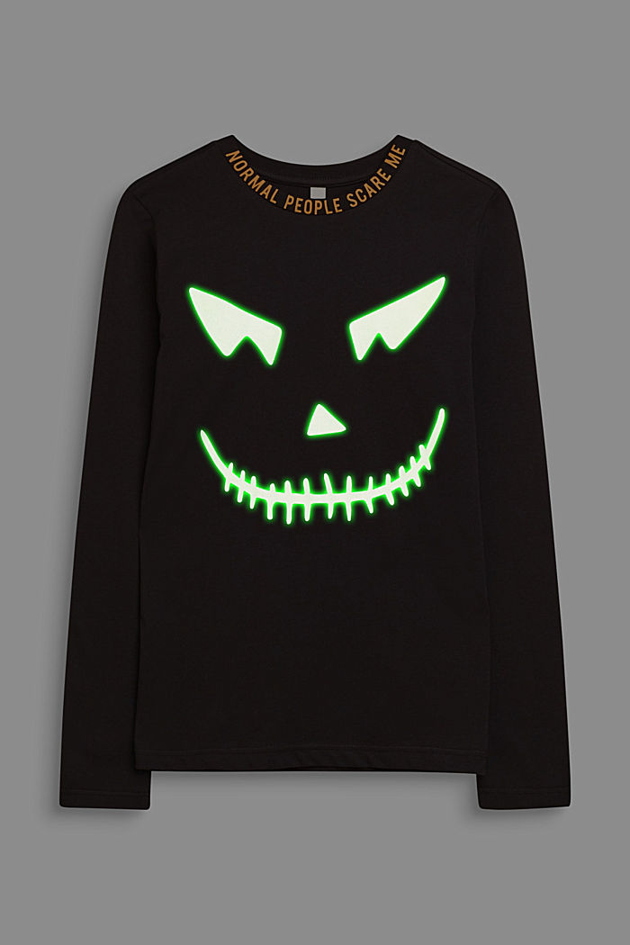 Camiseta de manga larga FLUORESCENTE, BLACK, detail image number 3