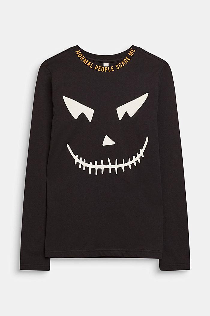 Camiseta de manga larga FLUORESCENTE, BLACK, detail image number 0