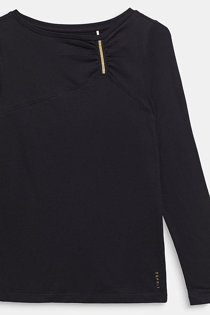 Longsleeve mit Glitter-Detail, 100% Baumwolle, LCBLACK, detail image number 2