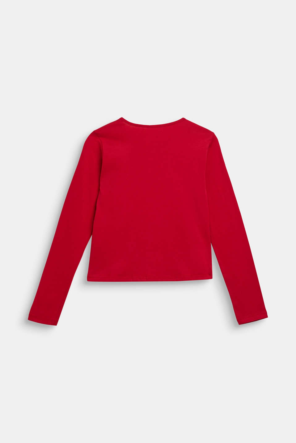 Long sleeve top with reversible sequins, LCTIBETAN RED, detail image number 1