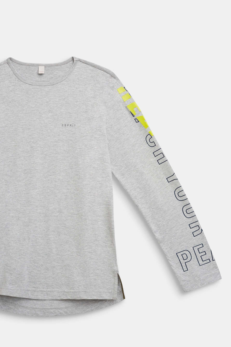 Long sleeve top with a statement print, LCHEATHER SILVER, detail image number 2