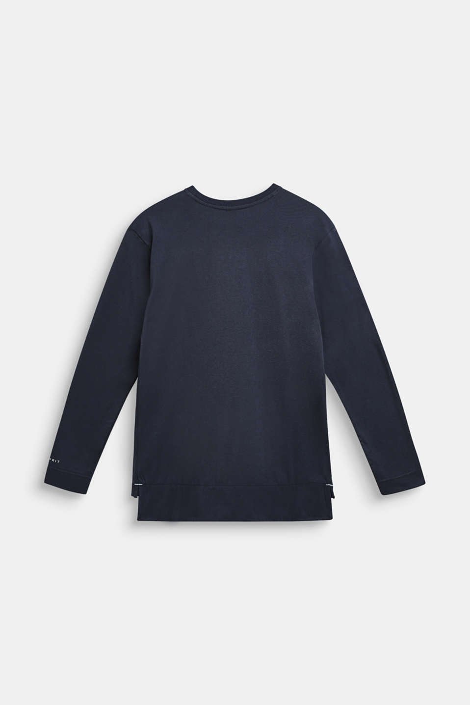 Long sleeve top made of 100% cotton, LCMIDNIGHT BLUE, detail image number 1