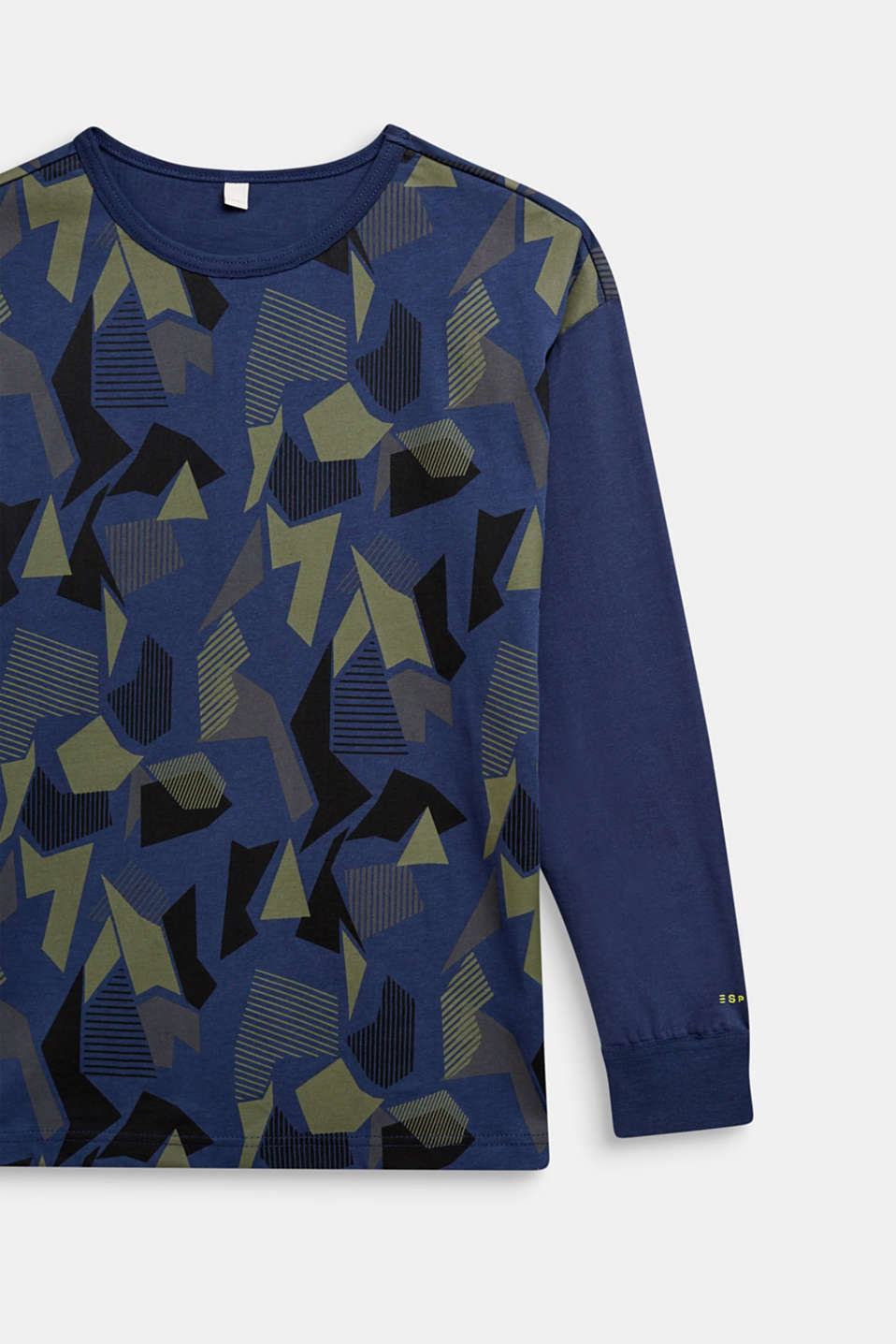 Long sleeve top with a graphic print, 100% cotton, LCMIDNIGHT BLUE, detail image number 2