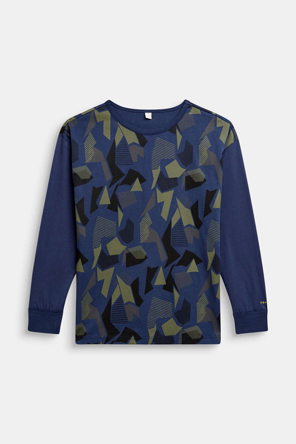 Esprit - Long sleeve top with a graphic print, 100% cotton