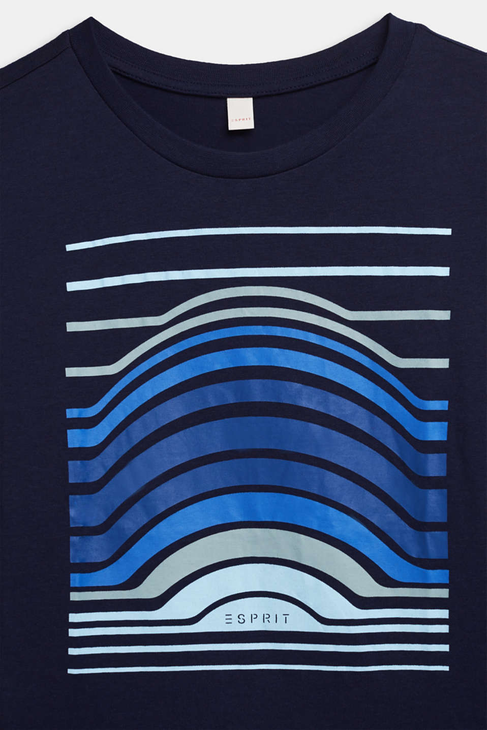 Printed long sleeve top, 100% cotton, LCULTRAMARINE, detail image number 2