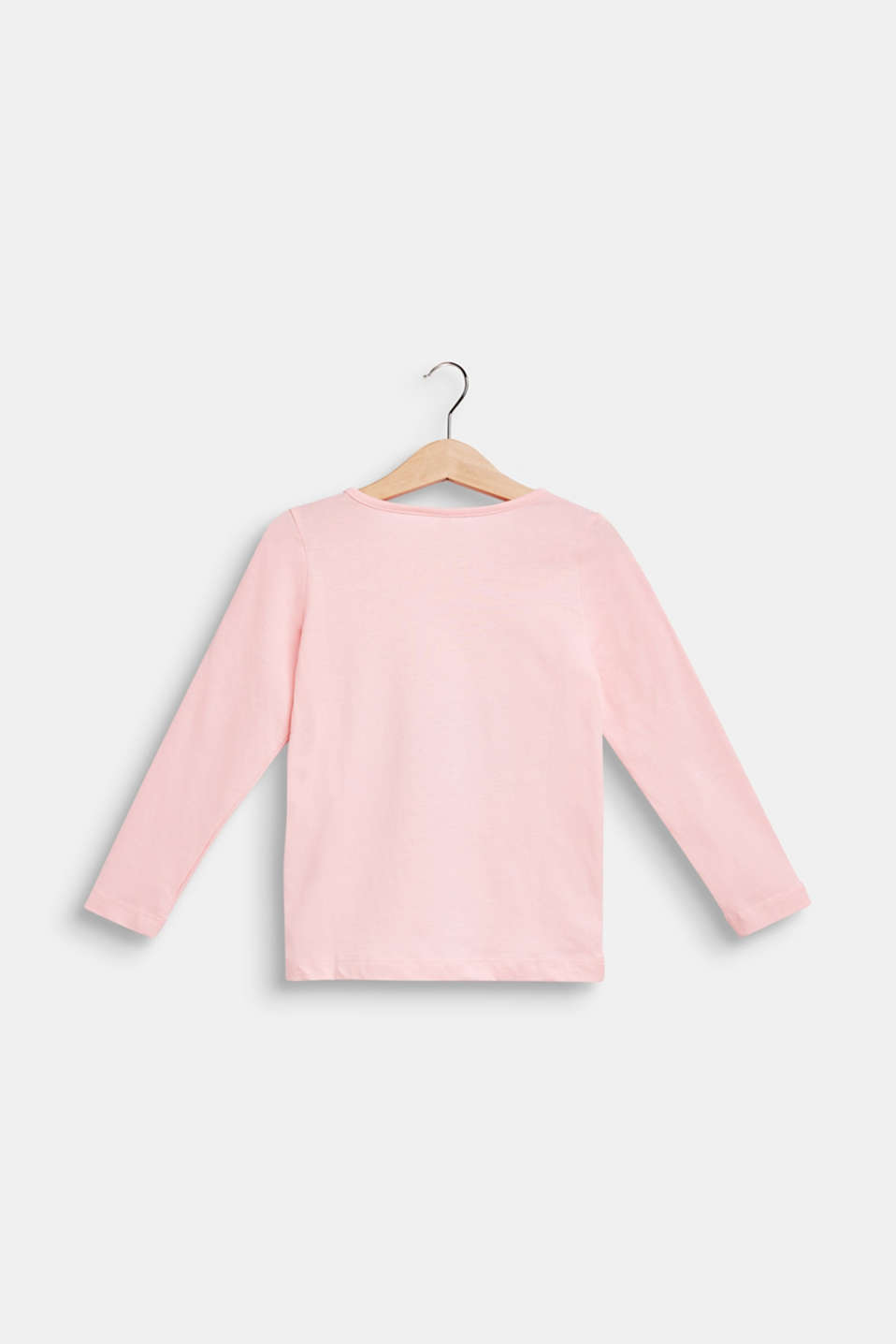 Long sleeve top with a photo print, 100% cotton , LIGHT PINK, detail image number 1