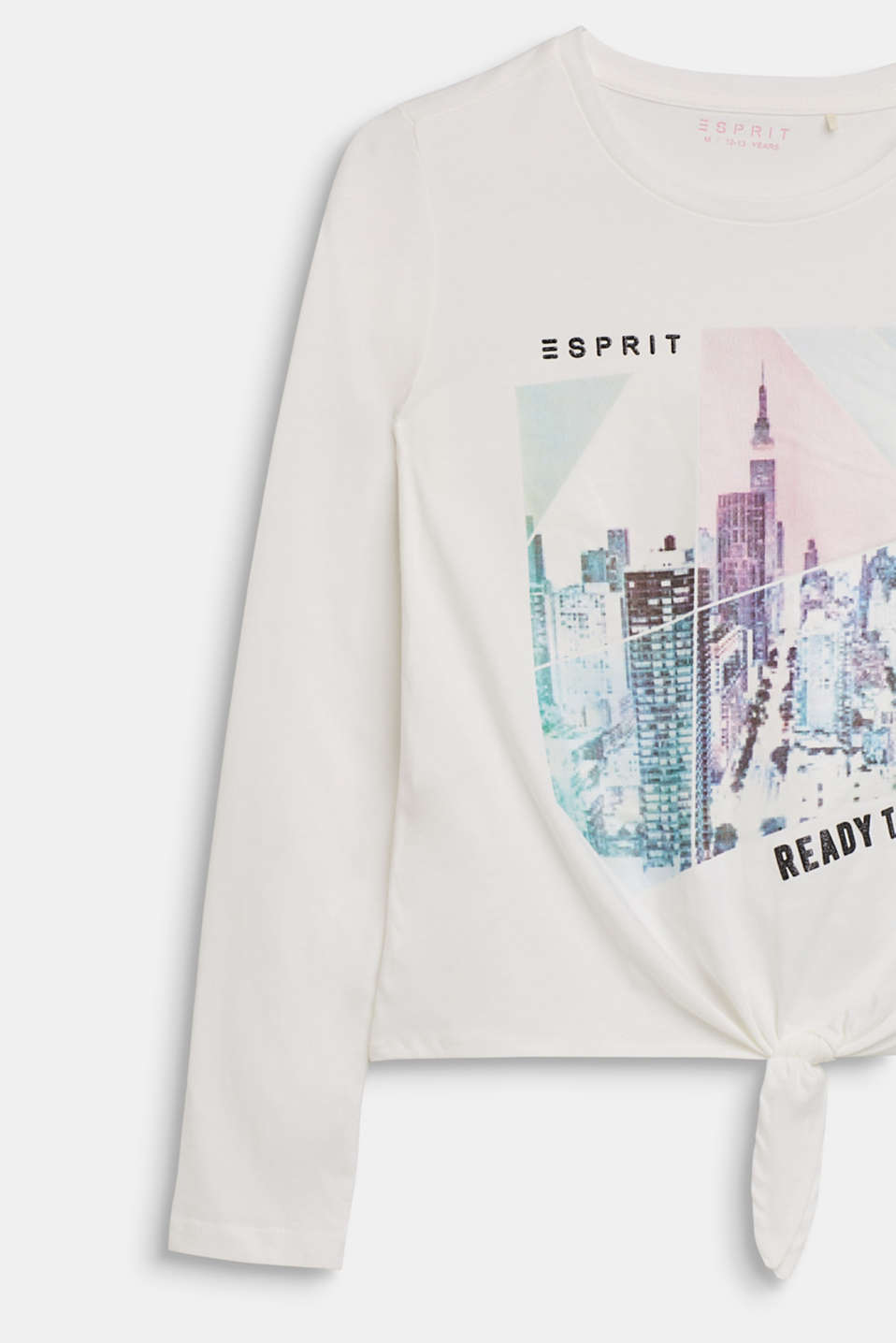 Long sleeve top with a shimmering photo print, LCOFF WHITE, detail image number 2