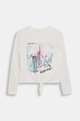 Long sleeve top with a shimmering photo print, LCOFF WHITE, detail