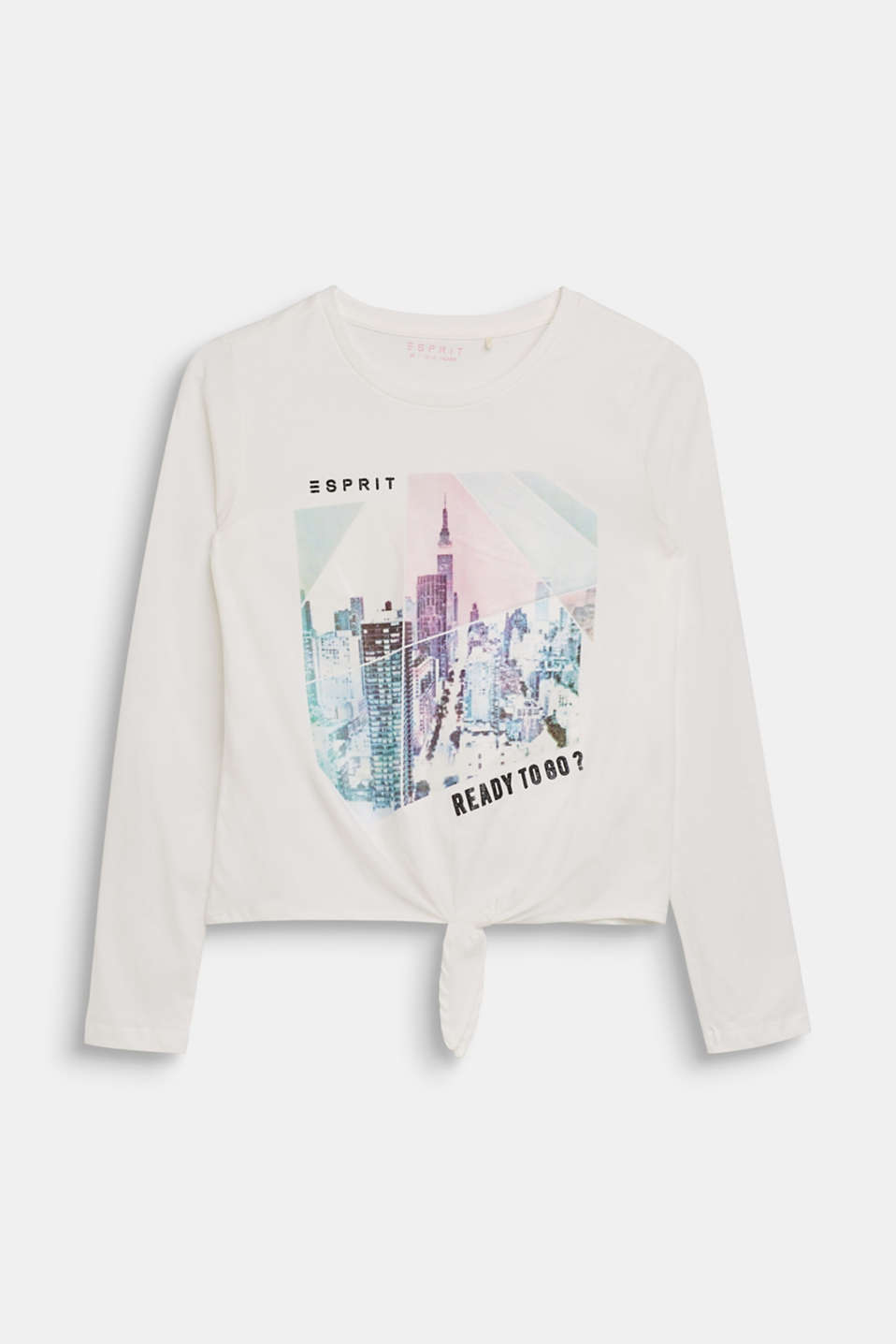 Esprit - Long sleeve top with a shimmering photo print