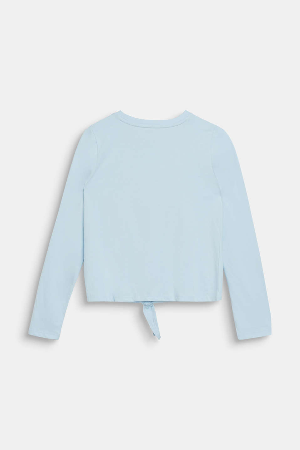 Long sleeve top with a shimmering photo print, LCICE BLUE, detail image number 1