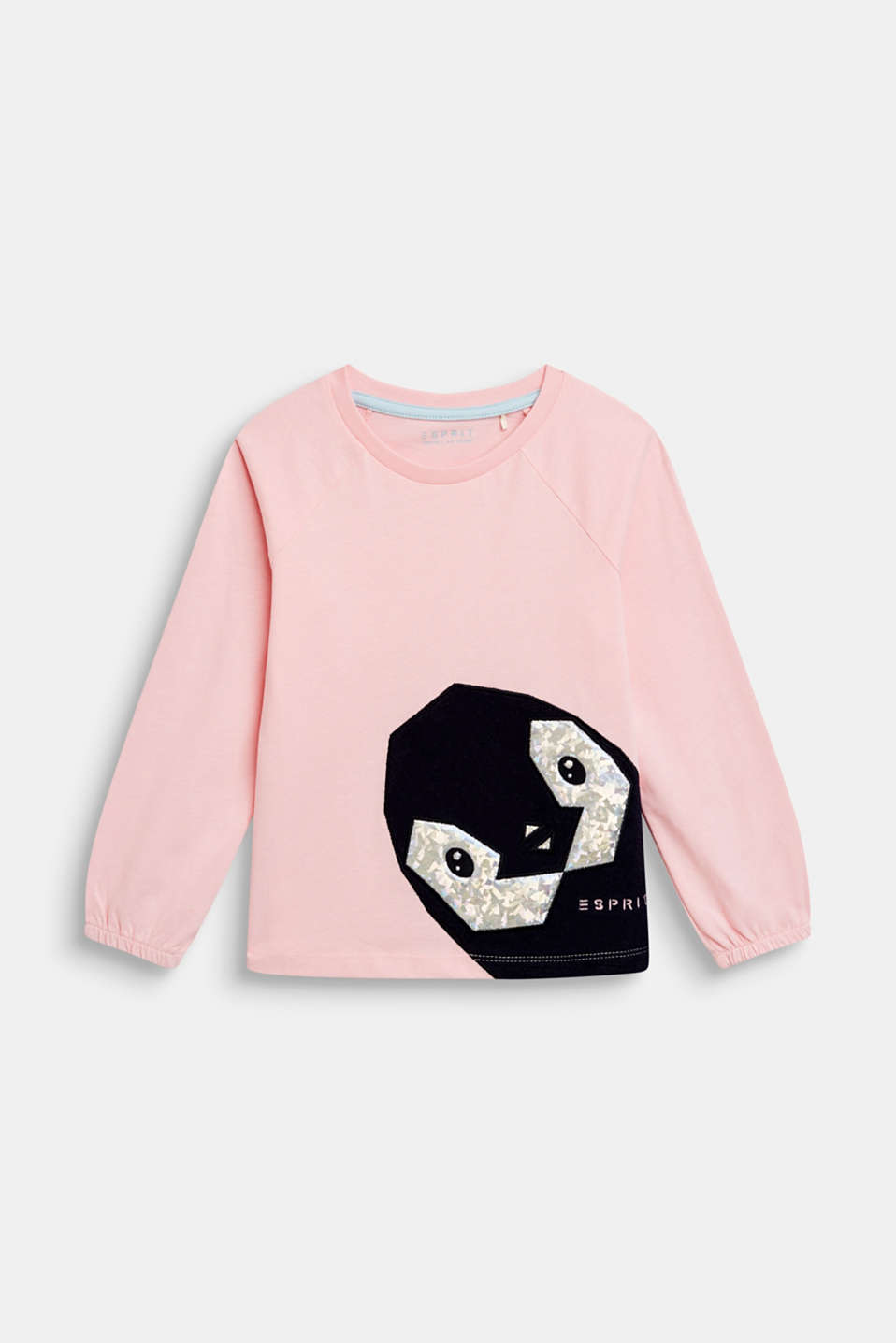 Esprit - Long sleeve top with penguin appliqués