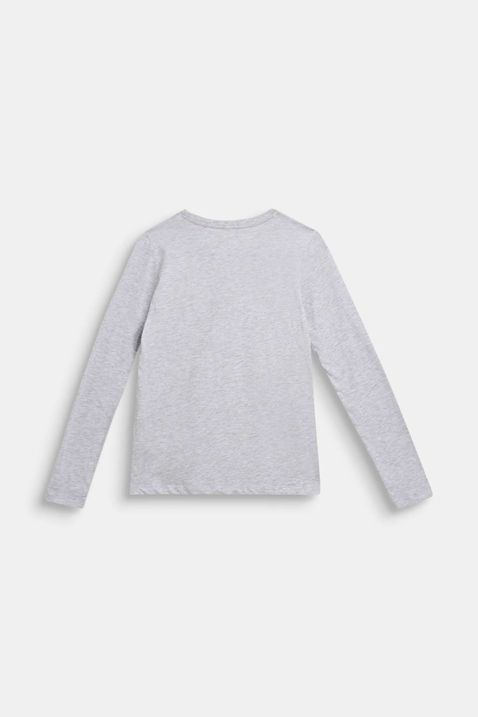 Long sleeve top with a glitter print, LCHEATHER SILVER, detail image number 1