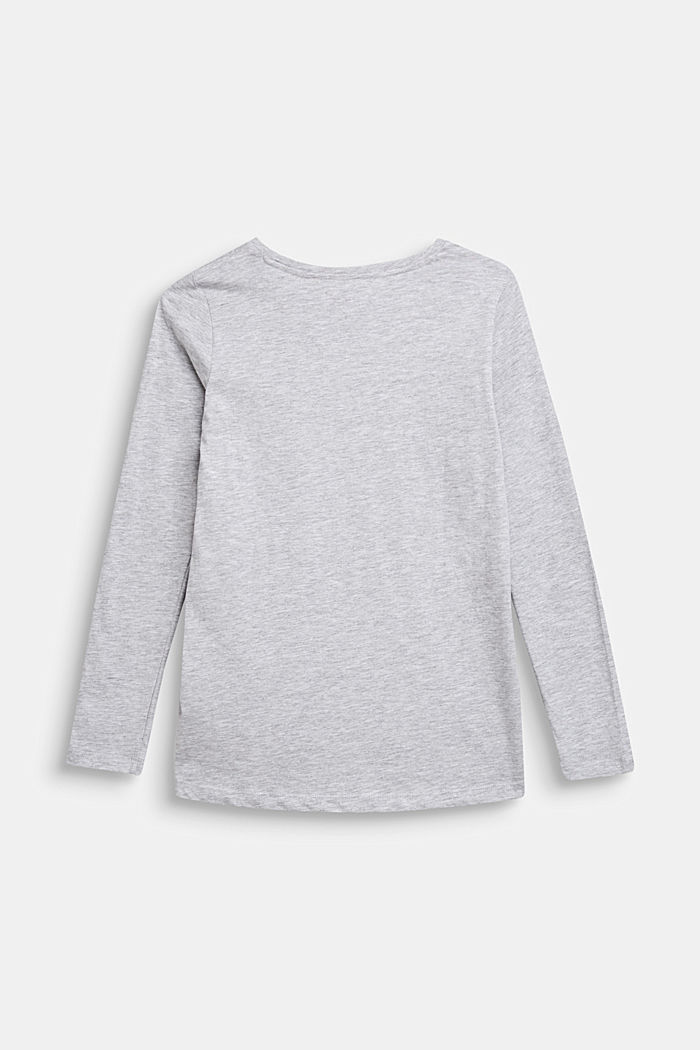 Longsleeve met statement print, LCHEATHER SILVER, detail image number 1