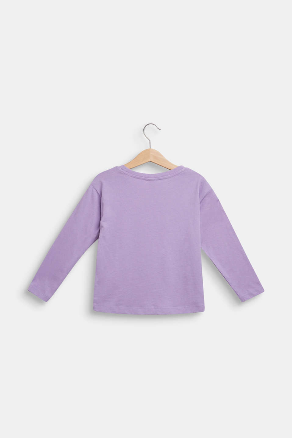 Long sleeve top with glitter polka dots, 100% cotton, BLOSSOM, detail image number 1