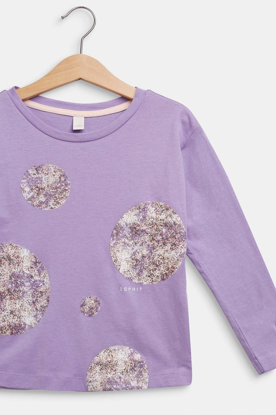 Long sleeve top with glitter polka dots, 100% cotton, BLOSSOM, detail image number 2