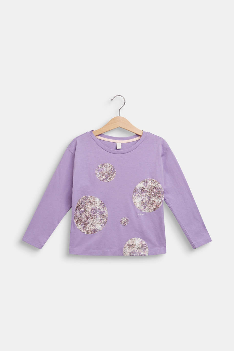 Long sleeve top with glitter polka dots, 100% cotton, BLOSSOM, detail image number 0
