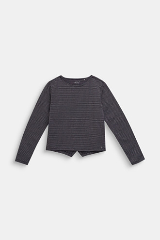 Long sleeve top with glitter stripes