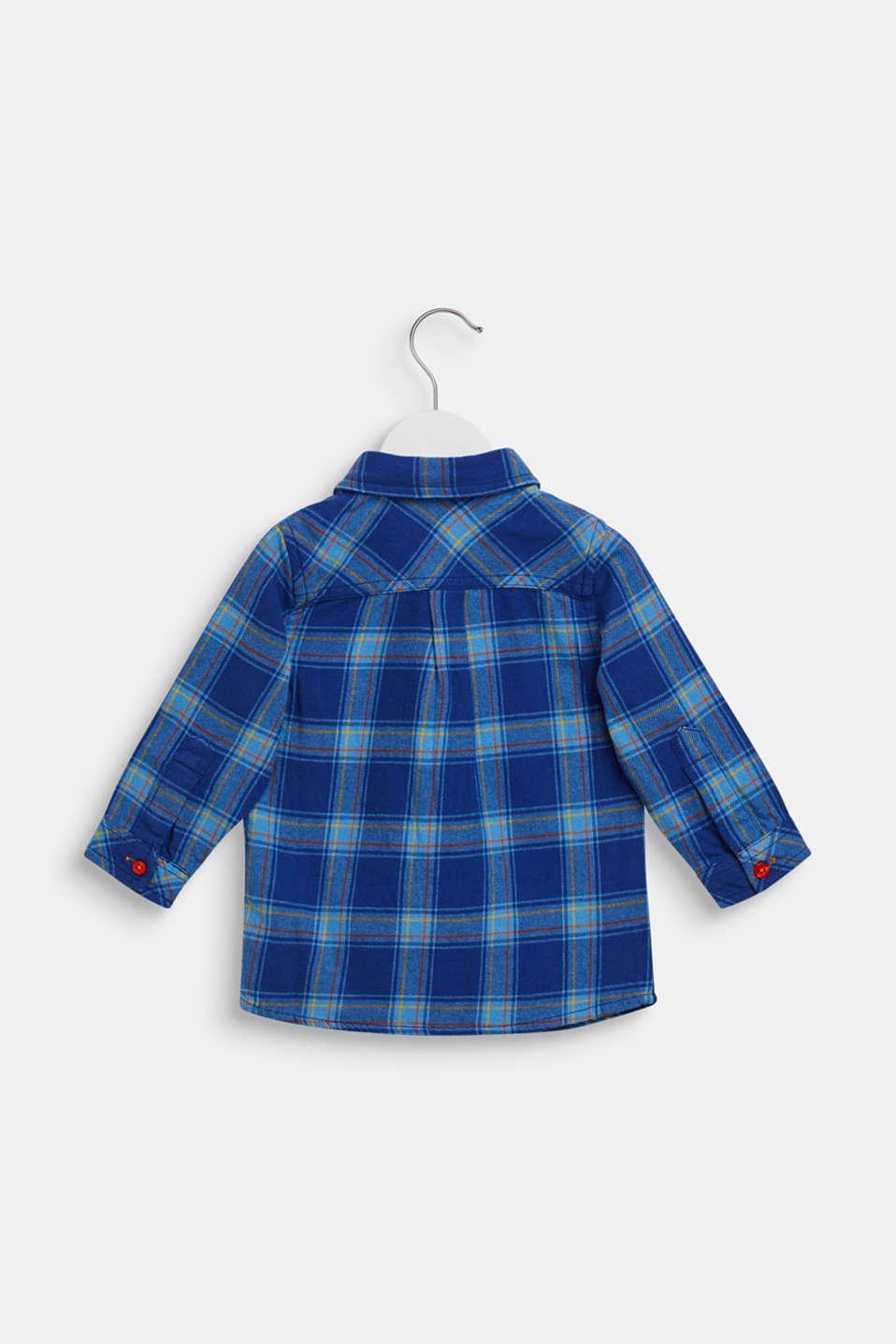 Check shirt in 100% cotton, LCINDIGO, detail image number 1