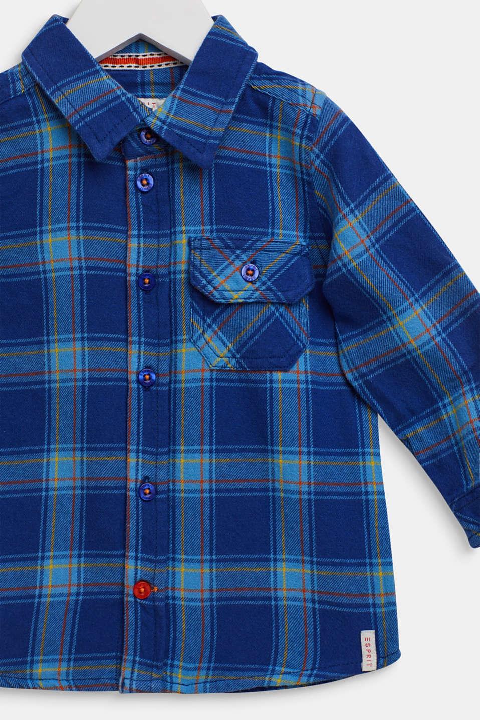 Check shirt in 100% cotton, LCINDIGO, detail image number 2