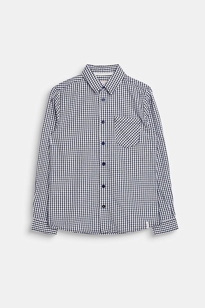 Hemd mit Karo-Muster, 100% Baumwolle, LCNAVY, detail image number 0