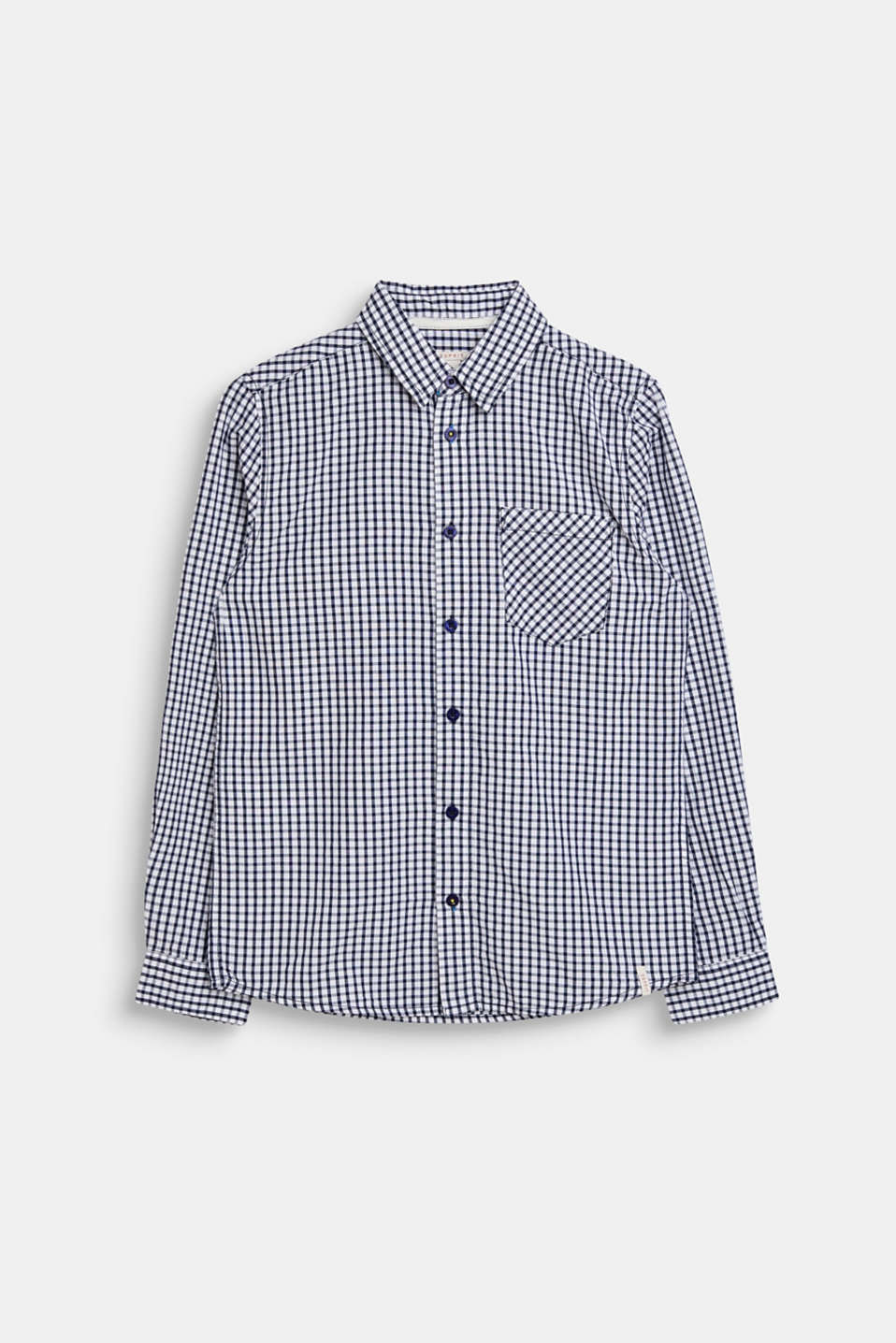 Esprit - Shirt with a check pattern, 100% cotton