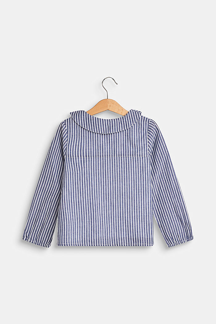 Blouse in 100% cotton, MARINE BLUE, detail image number 1