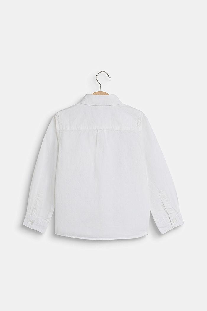 Hemd aus 100% Baumwolle, WHITE, detail image number 1