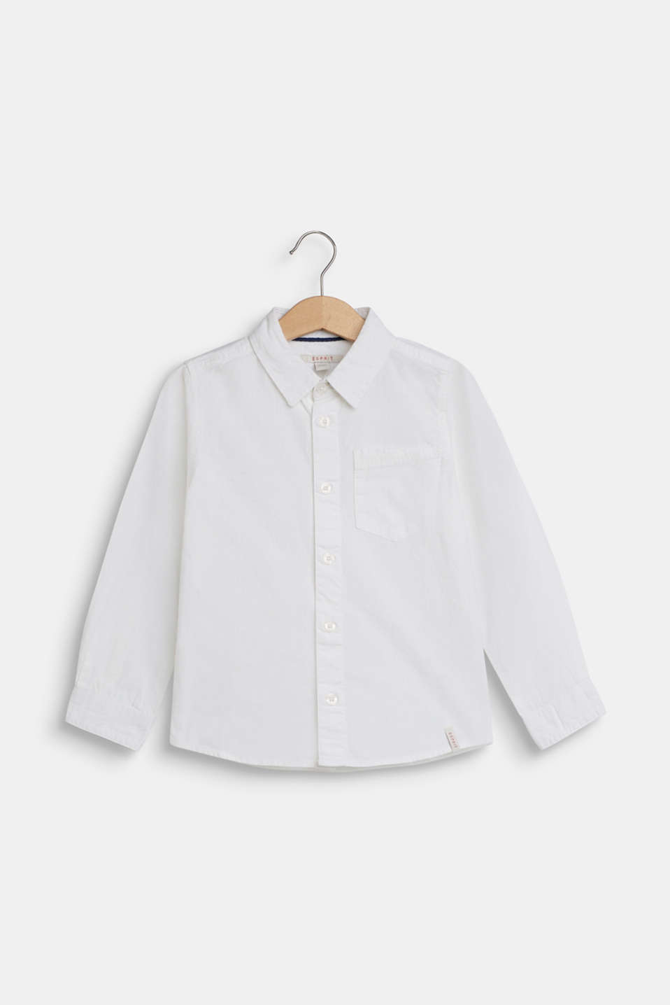 100% cotton shirt, WHITE, detail image number 0