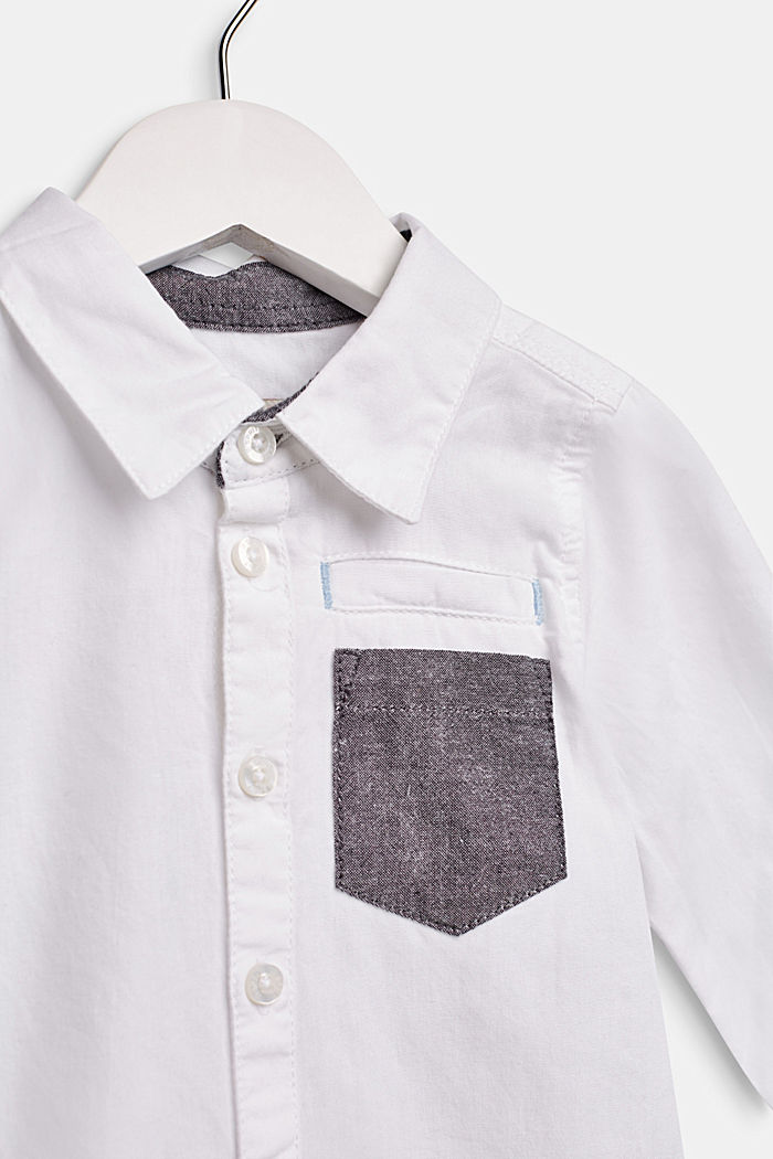 Camicia con tasca sul petto, 100% cotone, LCWHITE, detail image number 2
