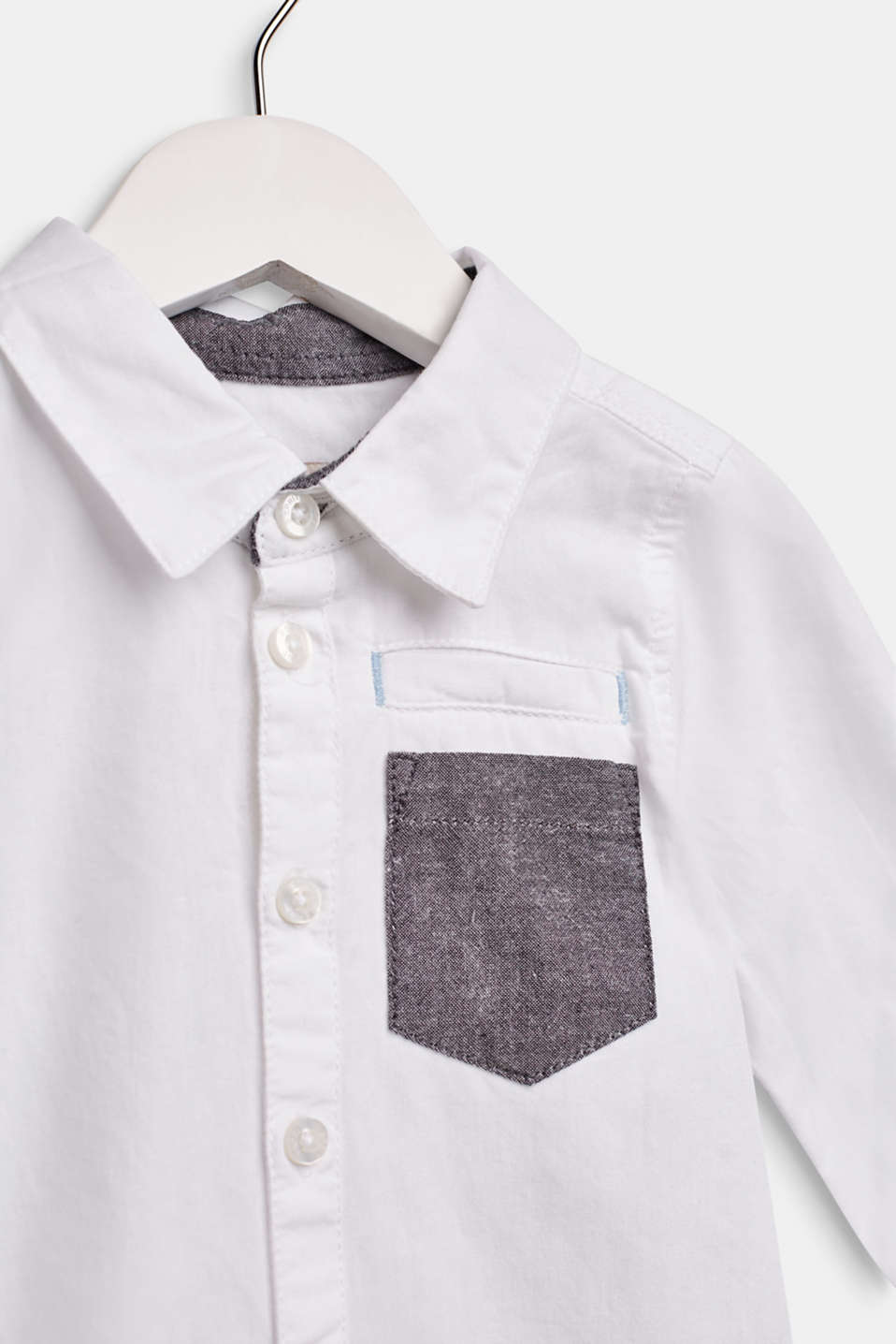 100% cotton shirt with a breast pocket, LCWHITE, detail image number 2