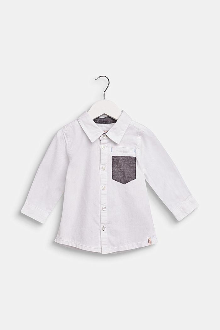 Camicia con tasca sul petto, 100% cotone, LCWHITE, detail image number 0