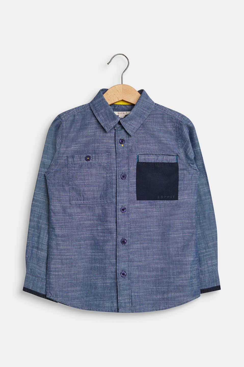 Esprit - Chambray shirt, 100% cotton