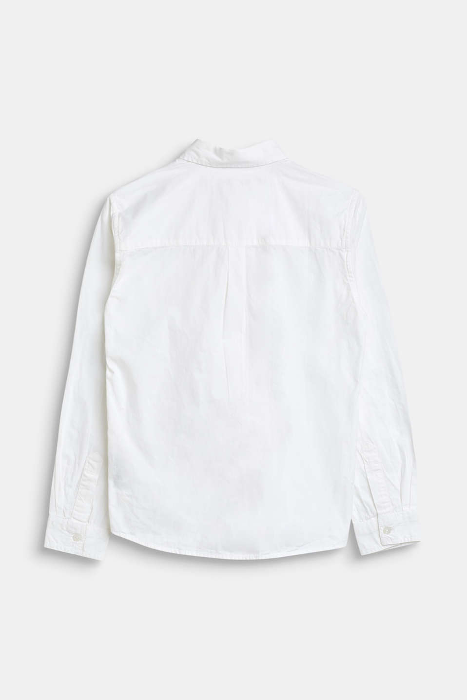Basic shirt in 100% cotton, LCWHITE, detail image number 1