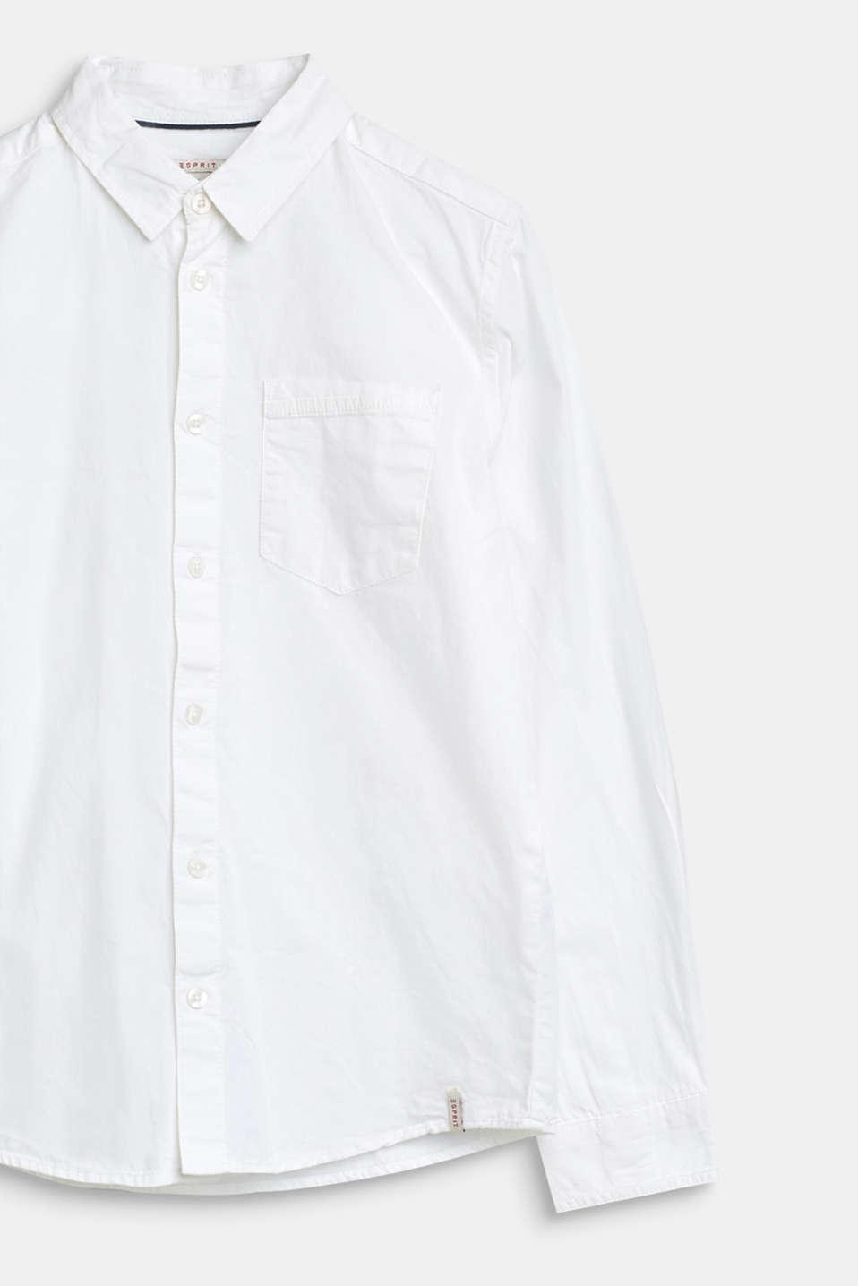 Basic shirt in 100% cotton, LCWHITE, detail image number 2