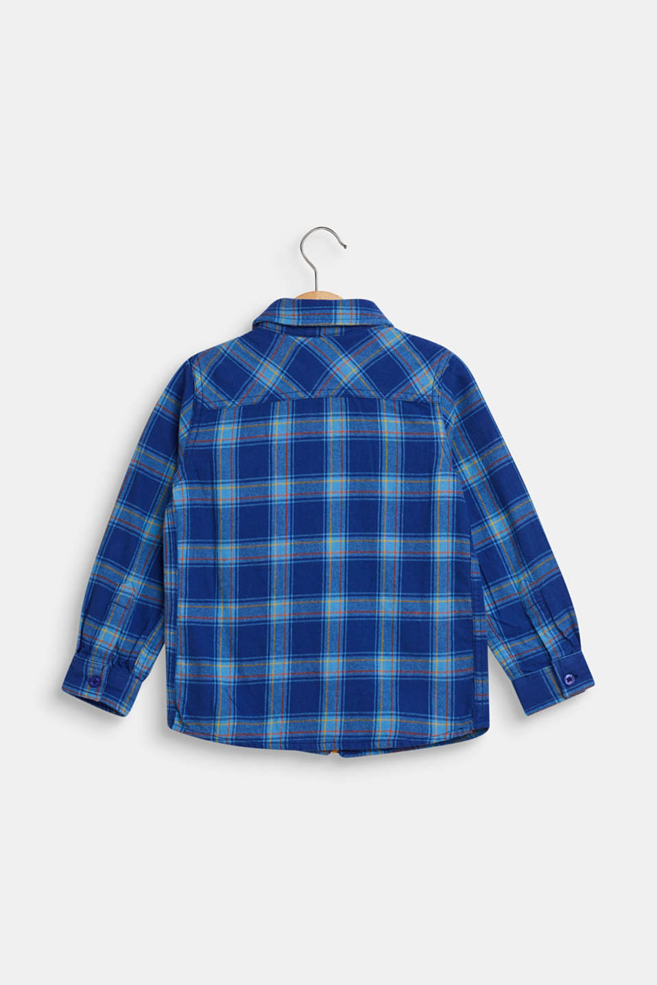 Checked flannel shirt, 100% cotton, indigo, detail image number 1