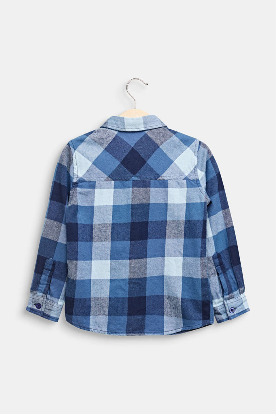 Flannel shirt with checks, 100% cotton, MIDNIGHT BLUE, detail image number 1