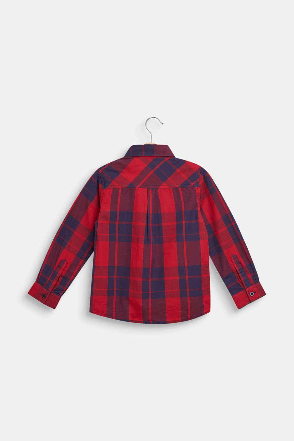 Check shirt in 100% cotton, DARK RED, detail image number 1