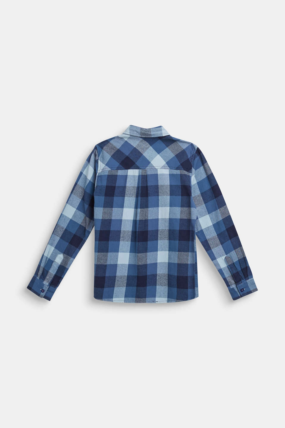 Flannel shirt with checks, 100% cotton, LCMIDNIGHT BLUE, detail image number 1