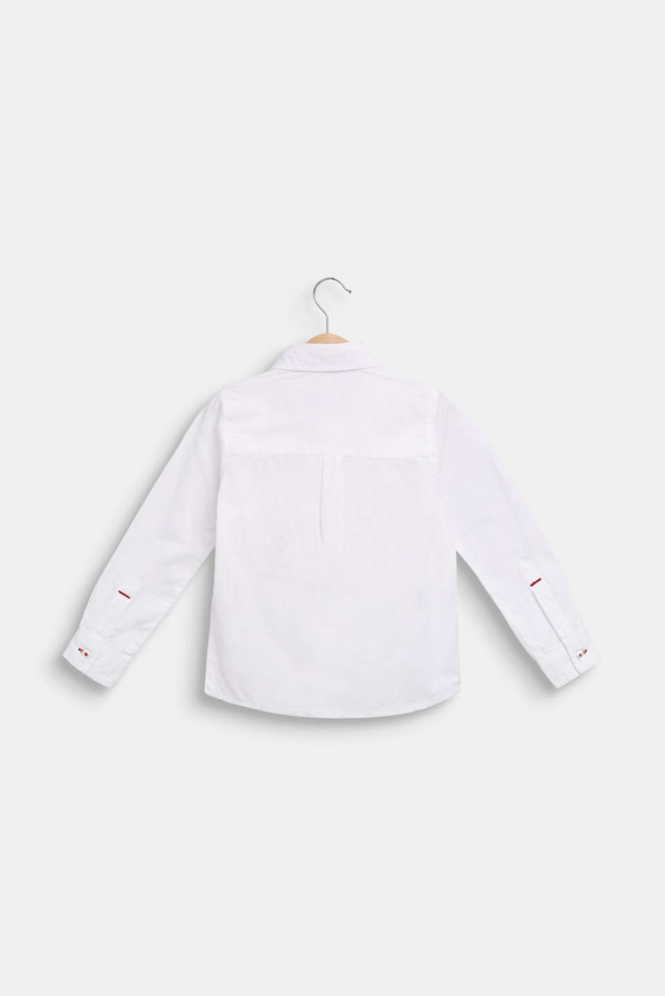 100% cotton shirt, WHITE, detail image number 1