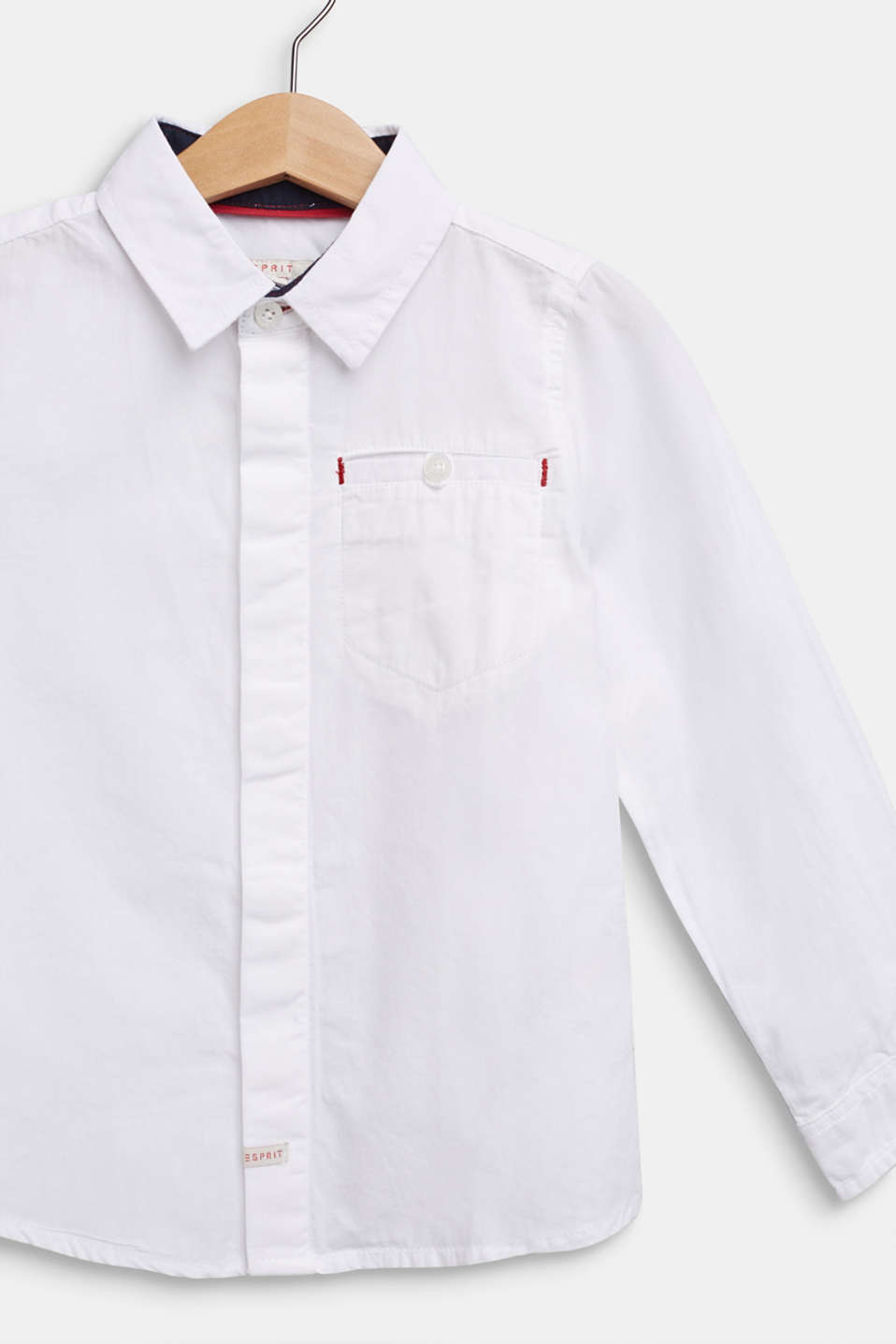 100% cotton shirt, WHITE, detail image number 2