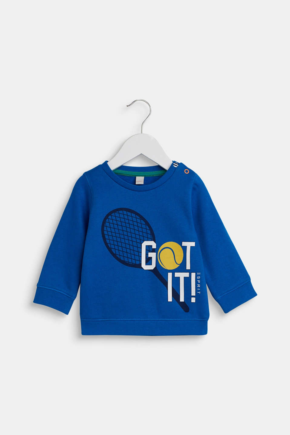 Sweatshirt with a sports motif, 100% cotton, LCBRIGHT BLUE, detail image number 0