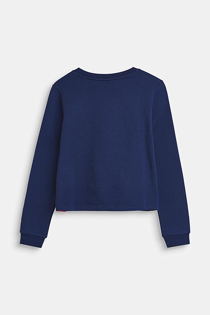 Sweatshirt met colour block design, 100% katoen, MARINE BLUE, detail image number 1