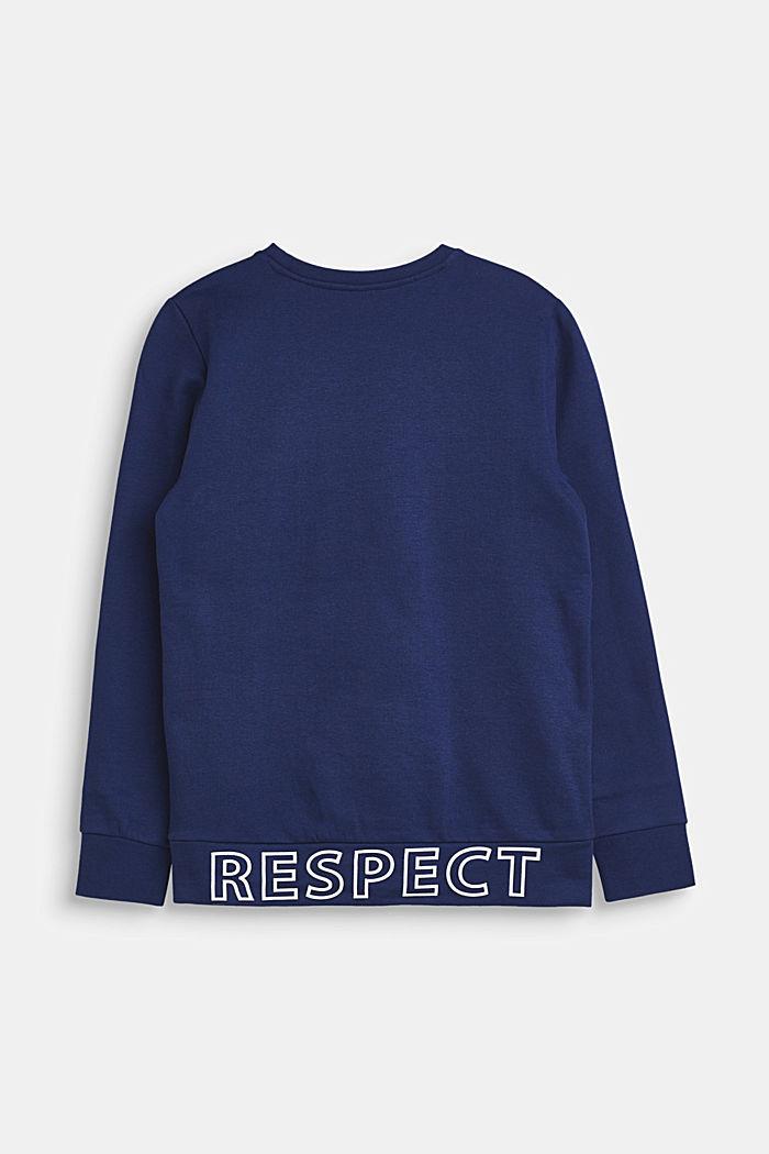 Sweatshirt van 100% katoen, LCMARINE BLUE, detail image number 1