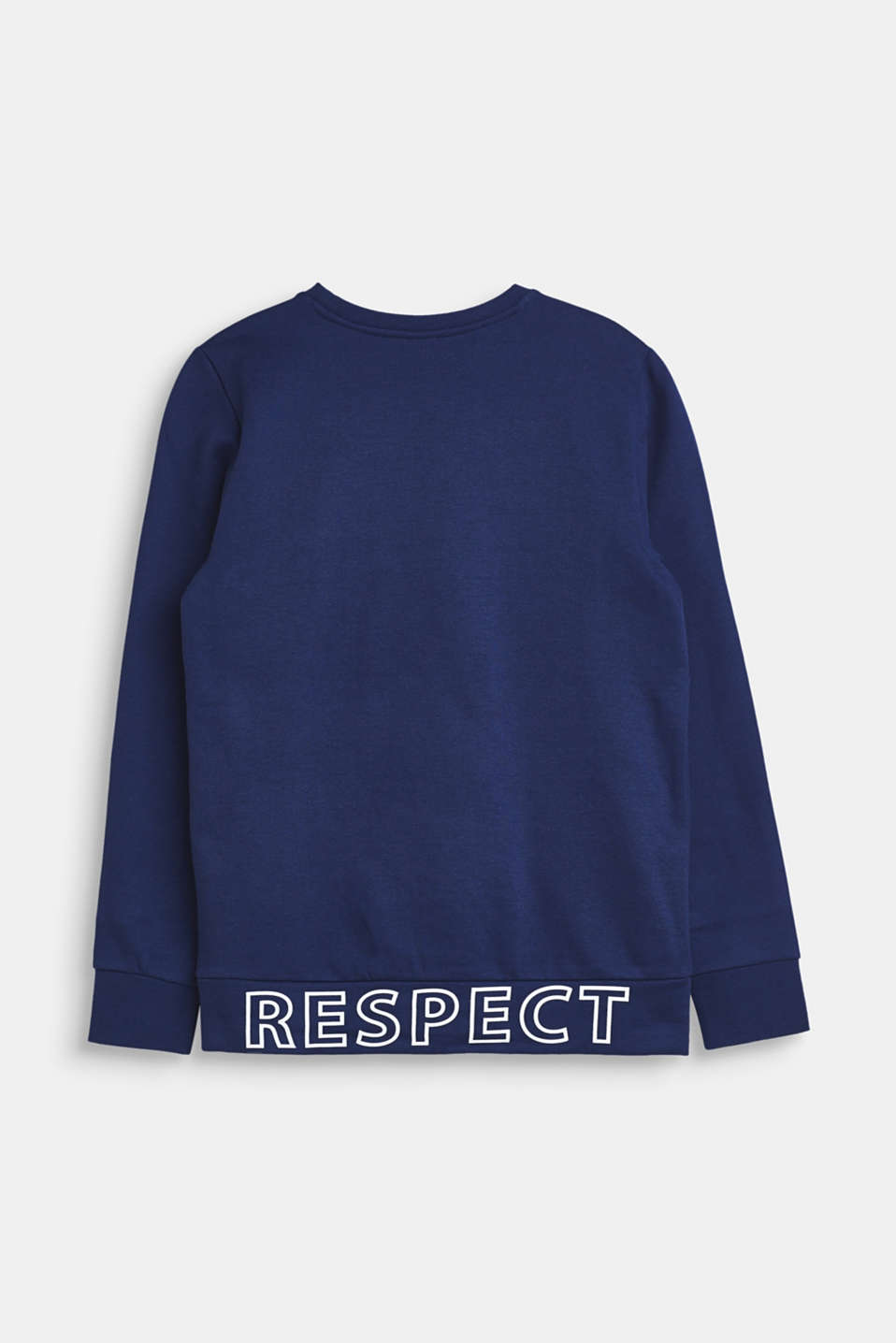 Sweatshirt in 100% cotton, LCMARINE BLUE, detail image number 1